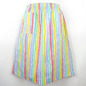 Vintage Sweet Striped Sportswear Skirt